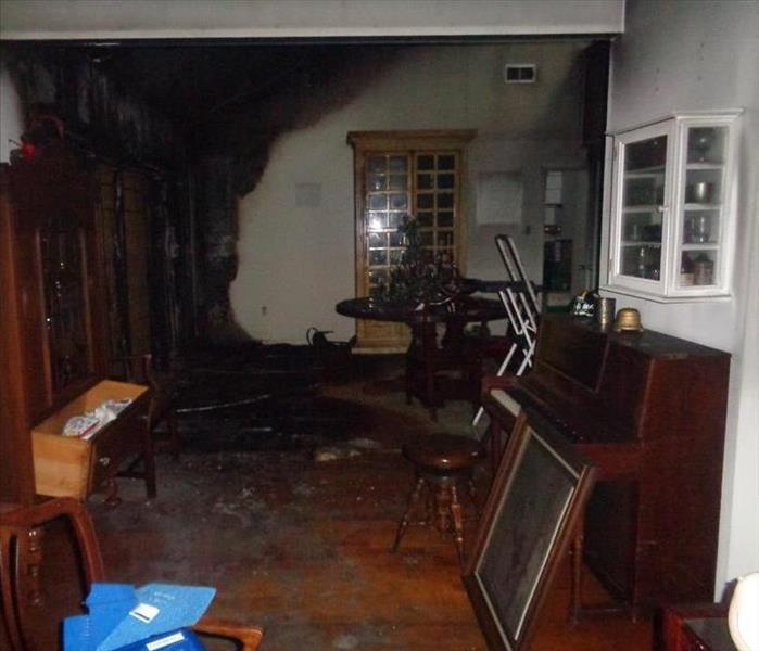 Fire damage in Mandeville home