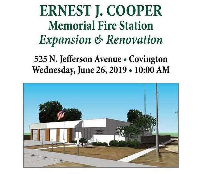 Fire Damage Dedication Ceremony for Ernest Cooper Memorial Fire Station
